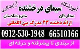 آموزشگاه آرایشگری زنانه خیابان ستارخان تهران